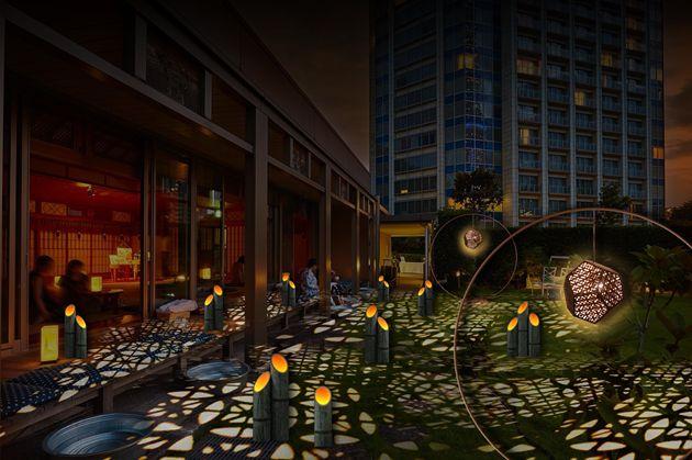 【ザ・プリンス パークタワー東京】竹あかりと東京タワーのライトアップが創り出す「TOKYO」ならではの夕涼み空間「SUZUMUSHI CAFÉ」をオープン