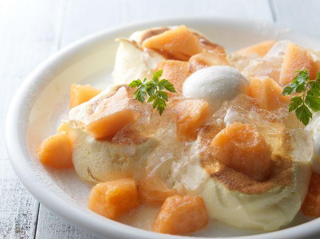 【ドレモルタオ】ジューシーでとっても甘い北海道の夏の恵み!新作パンケーキ「富良野メロン」登場!
