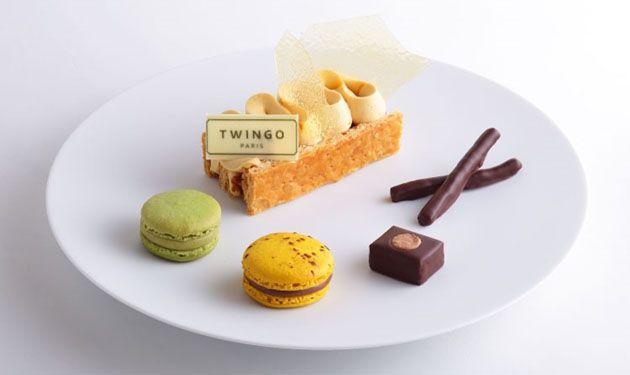 【Café TWINGO】限定車 ルノー トゥインゴ PH マカロン発売に合わせ ピエール・エルメ・パリ 青山に期間限定カフェオープン