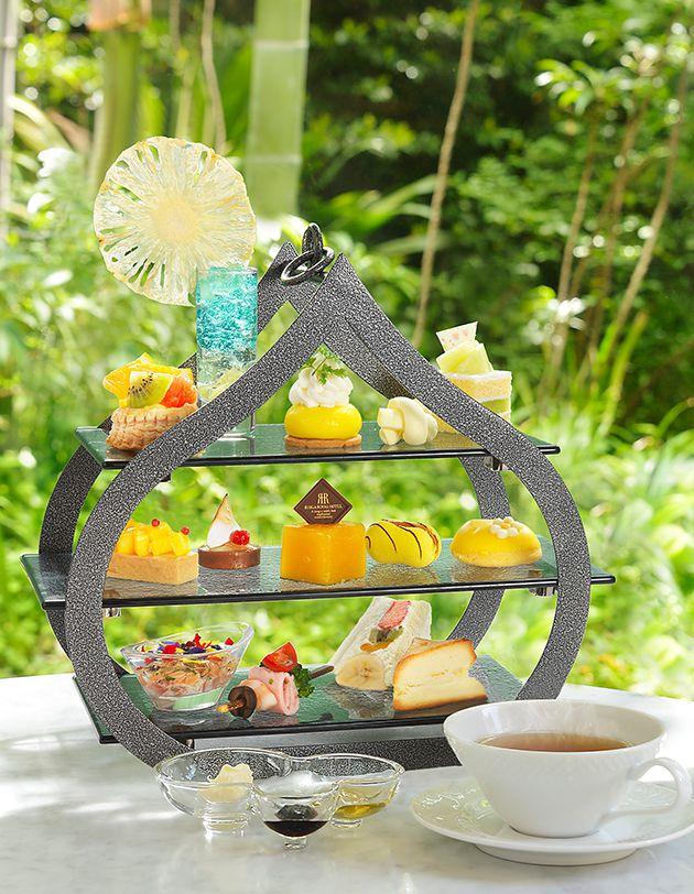 【リーガロイヤルホテル大阪】マンゴーやパインアップルなど、夏のスイーツを楽しむアフタヌーンティー