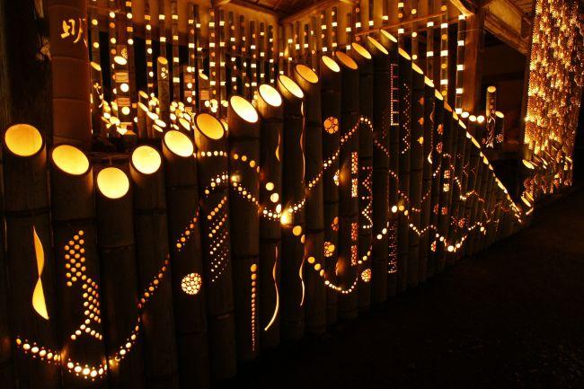 【終了】三千本の灯りに包まれる。「清水寺の竹灯籠」福岡・宮若市で開催