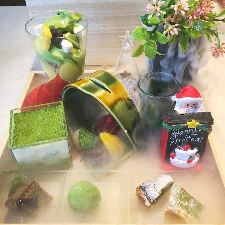 """抹茶の宝石箱やぁ〜!京都・茶筅のまるで玉手箱の""""抹茶スイーツ""""が気になる"""
