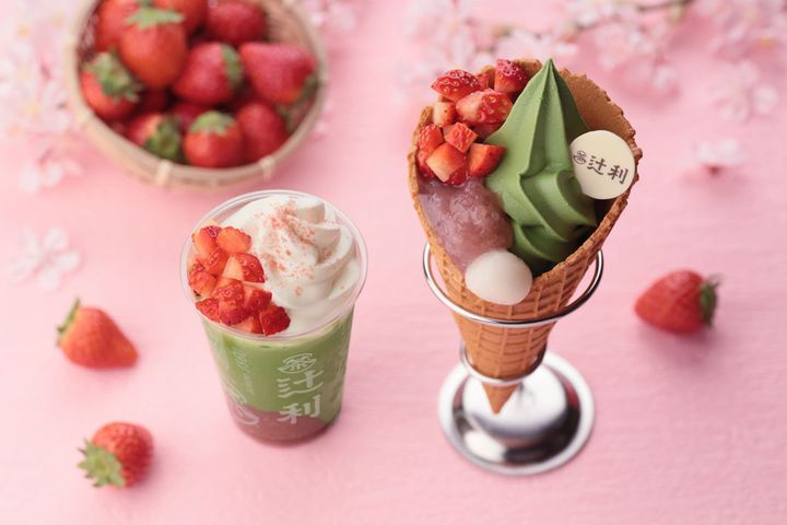 【終了】イチゴ×抹茶の魅惑のコラボ!「辻利 銀座店」から春限定メニュー登場
