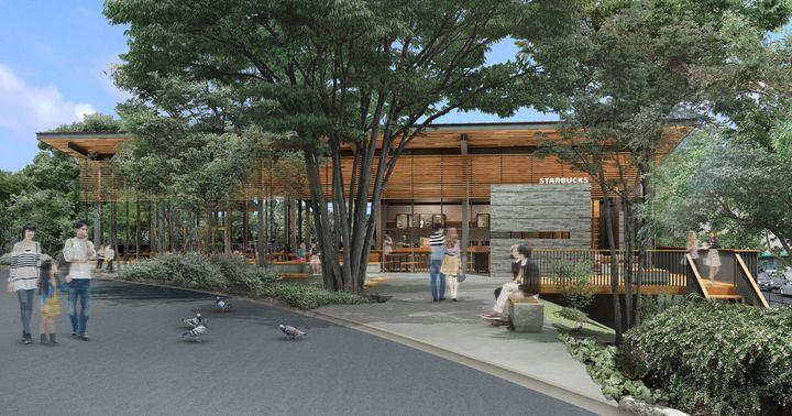森の中でコーヒーを。『スターバックス コーヒー 浜松城公園店』OPEN