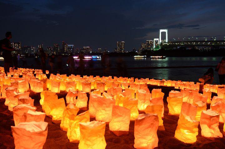 【終了】5万個のランプがビーチを彩る。「海の灯まつり in お台場 2018」開催