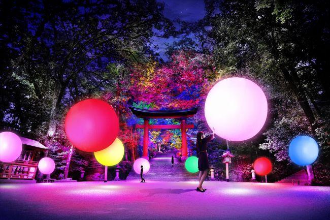 【終了】人々の存在によって変化。「光の祭 Art by teamLab」大分で開催