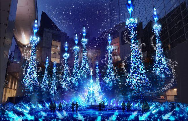 【開催中】今年はアナ雪とラプンツェル!汐留で「プリンセスイルミネーション」開催