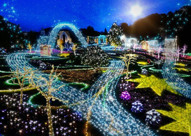 【開催中】静岡県のつま恋リゾート 彩の郷で、光と音楽が融合したイルミネーション開催