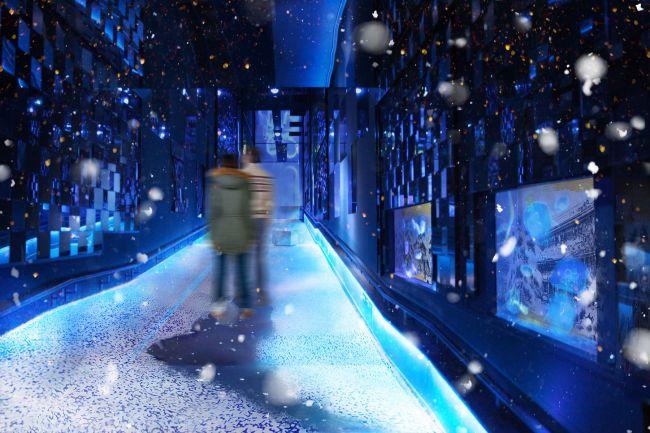 【終了】冬を体感できるインタラクティブアート「雪とクラゲ」すみだ水族館で開催