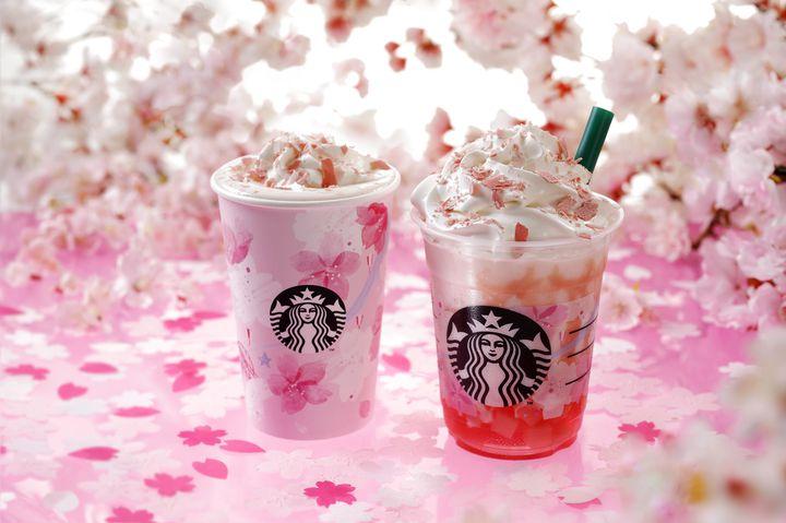 【終了】満開の桜を表現!スタバから『さくらフル ミルク ラテ / フラペチーノ®』登場