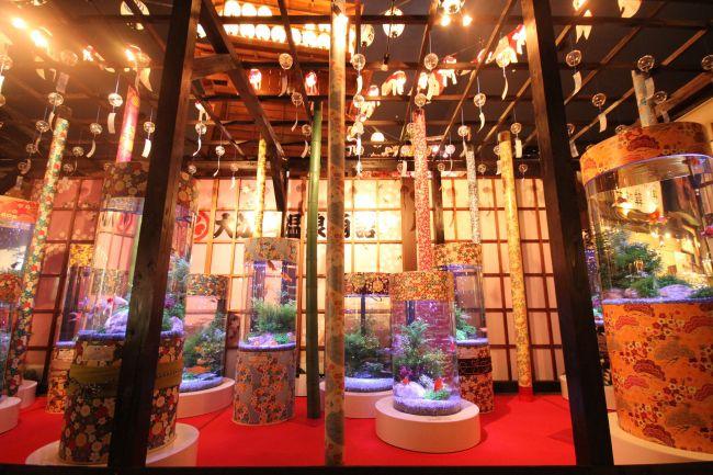 """【開催中】今年最大級のワクワクを。大江戸温泉物語にて""""金魚アート展""""が開催"""