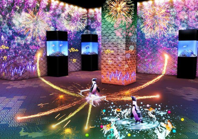 【終了】日本最高峰の演出を堪能。美しさに惚れる「花火アクアリウム」品川で開催