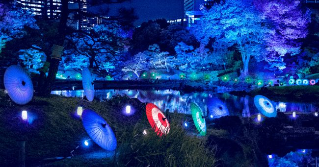 """【終了】夏の夜を彩る涼しげな催し。旧芝離宮恩賜庭園にて""""夜間ライトアップ""""開催"""