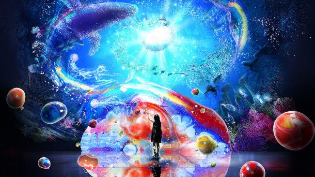 【開催中】極彩色で彩られた光の海。「OCEAN BY NAKED 光の深海展」横浜アソビルで開催