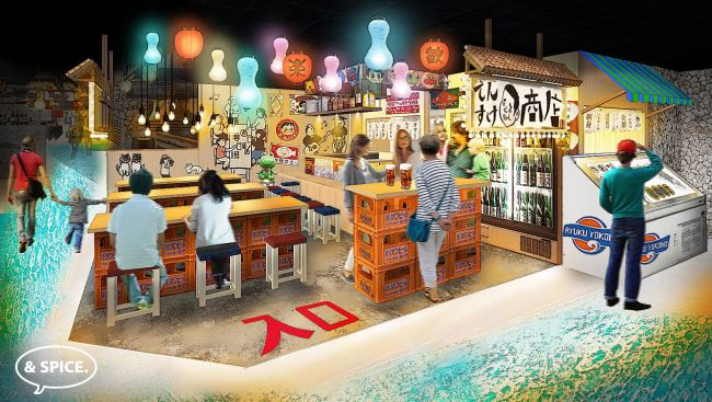 地下1階、1階4エリアの全32店舗!沖縄那覇「国際通りのれん街」グランドオープン