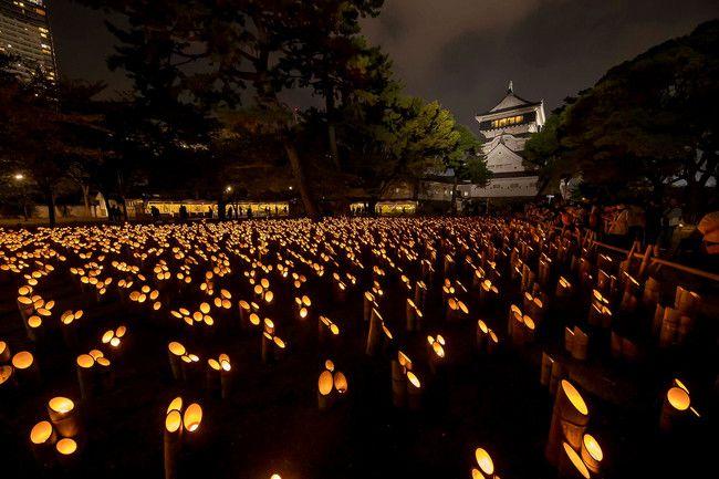 【終了】昨年話題の竹灯籠がグレードアップして帰ってきた!福岡にて「小倉城竹あかり」開催