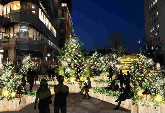 【開催中】クリスマスツリーも登場!東京ミッドタウン日比谷にて「イルミネーション」開催