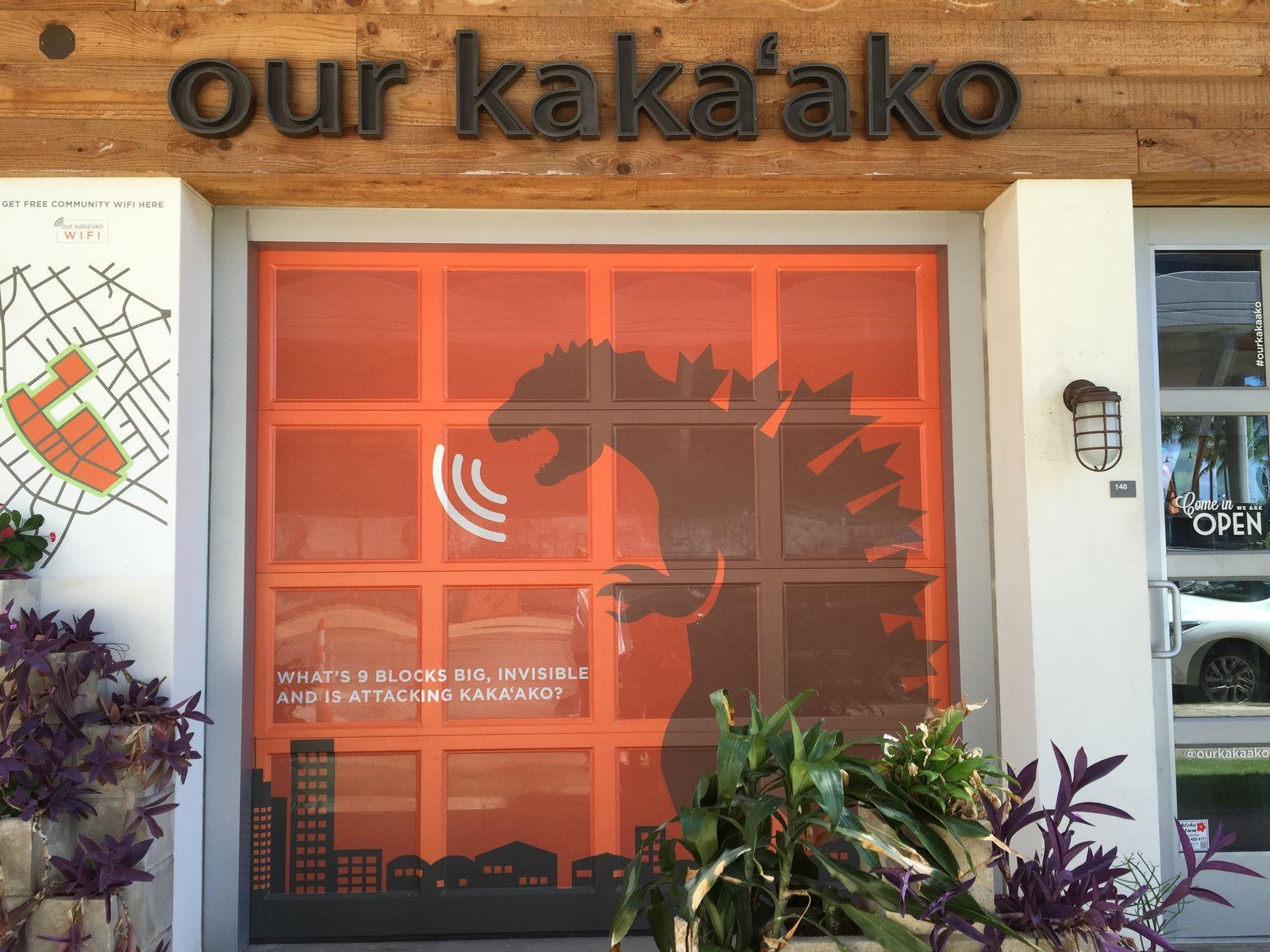 カカアコの町なかにはフリーWi-Fiも。イベント情報は、our kaka'ko(http://www.ourkakaako.com/)にも詳しくでているんでチェックしてみてくださいね。