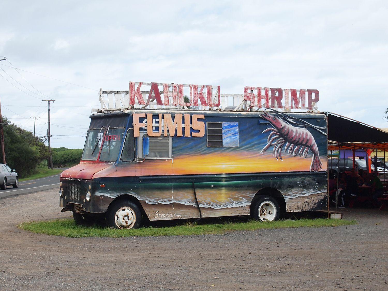 こちらはロコにも大人気の「フミズ・カフク・シュリンプ」。エビを自家養殖しているというだけあって、素材の新鮮さはピカイチ。