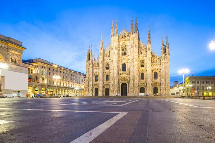 ファッションの街、ミラノ。ショッピングが充実しています。
