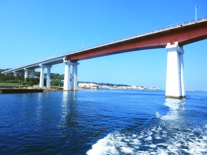 城ヶ島大橋は城ヶ島と三浦半島を結ぶ海橋です。1960年に完成し、長さ575m、幅11m、海面からの高さは21m。眺望は抜群で三崎港、城ヶ島を一望できるんです!