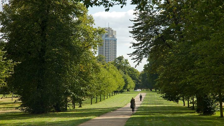 ヴィクトリア女王の誕生の地であるケンジントン宮殿を囲む広大な自然公園