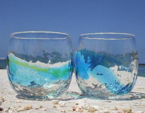 琉球ガラス デコたるグラス 緑【琉球ガラス村】