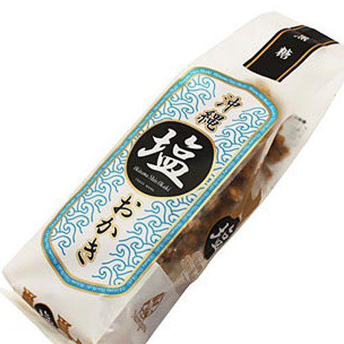 ナンポー通商 沖縄塩おかき 黒糖 130g ×1袋