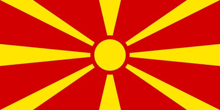 マケドニアの国旗です。