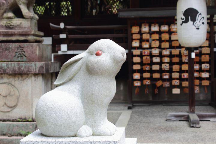 可愛くてご利益あり!京都のうさぎ神社「岡崎神社」とは