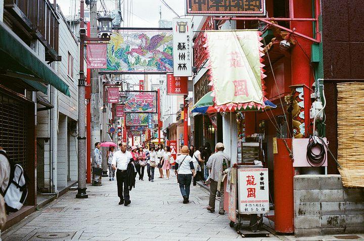 中華系の人々が多く住むエリア、チャイナタウン