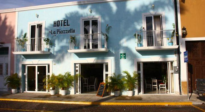パステルカラーも鮮やかなホテルです。