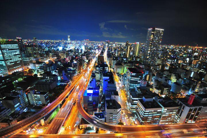 大阪 夜景 オリックス本町ビル展望テラス