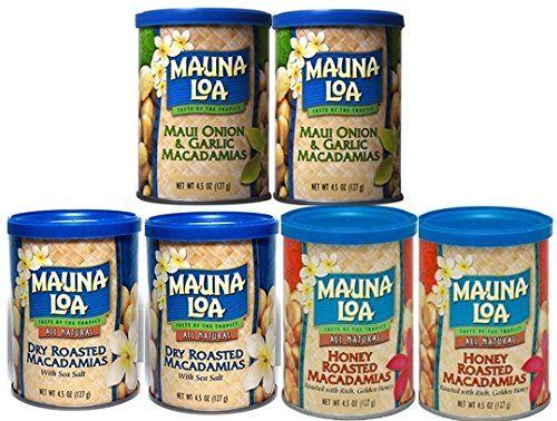 マウナロア  マカダミアナッツ お好み6缶セット [並行輸入品]   4.5oz(127g)・・・ご自由に【6缶】選べます。