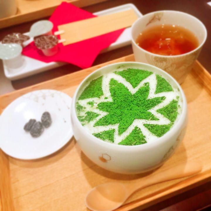 まるでラテアート!京都「けずりひや」の抹茶かき氷が美しすぎるって噂