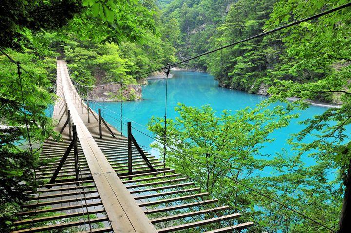 """""""日本一渡りたい""""大自然の絶景橋!ネットで話題の「夢の吊り橋」とは"""