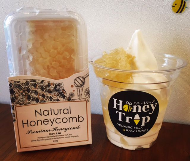 冬でも食べたい!!天然蜂の巣&オーガニック牛乳のヘルシーソフトクリーム♪