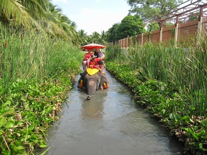 でもでも!!!ここの象さんは、水の中まで歩いてくれちゃうのです。うーん、気持ちよさそう!