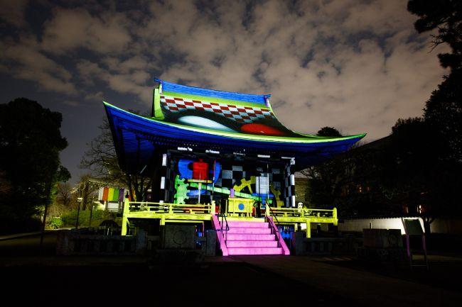 【終了】幻想的な年越しはいかが?円融寺で「プロジェクションマッピング奉納」開催