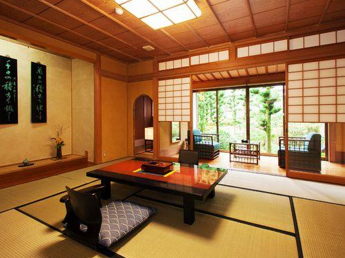 客室はすべて戸建離れ形式の客室で、桧風呂(内湯)もしくは露天風呂が付いています。