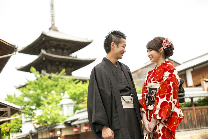 【今年の夏は着物レンタルで京都デート♡】カップ …