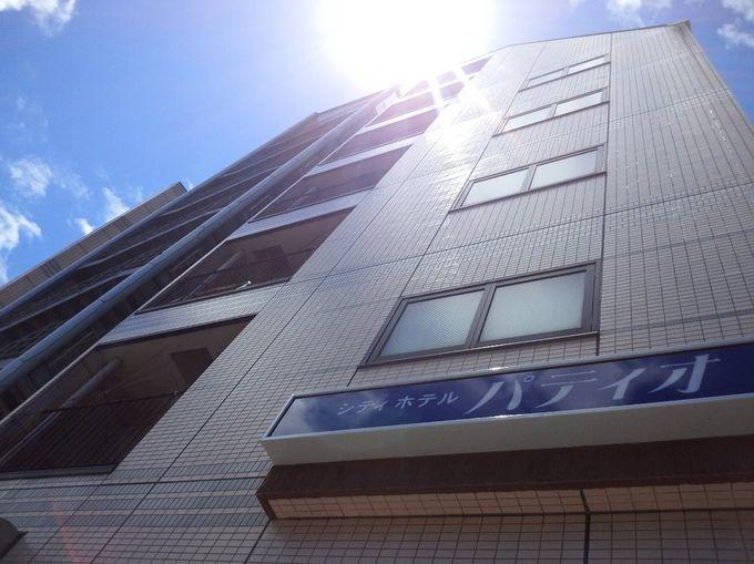高松駅から徒歩約15分。丸亀町グリーン徒歩約2分の場所にあるシティホテルパティオ。