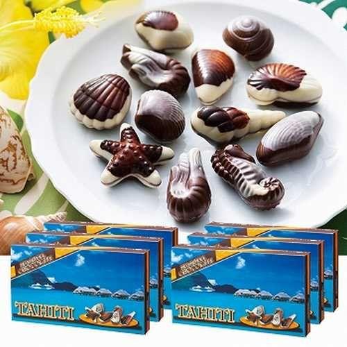 タヒチ シーシェルチョコレート 6箱セット ドルフィン紙袋付き 【タヒチ 海外土産 輸入食品 スイーツ】174102