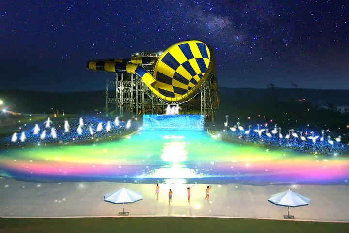 【終了】夜のプールが幻想的!福井で「サマーナイト・イルミネーション」開催
