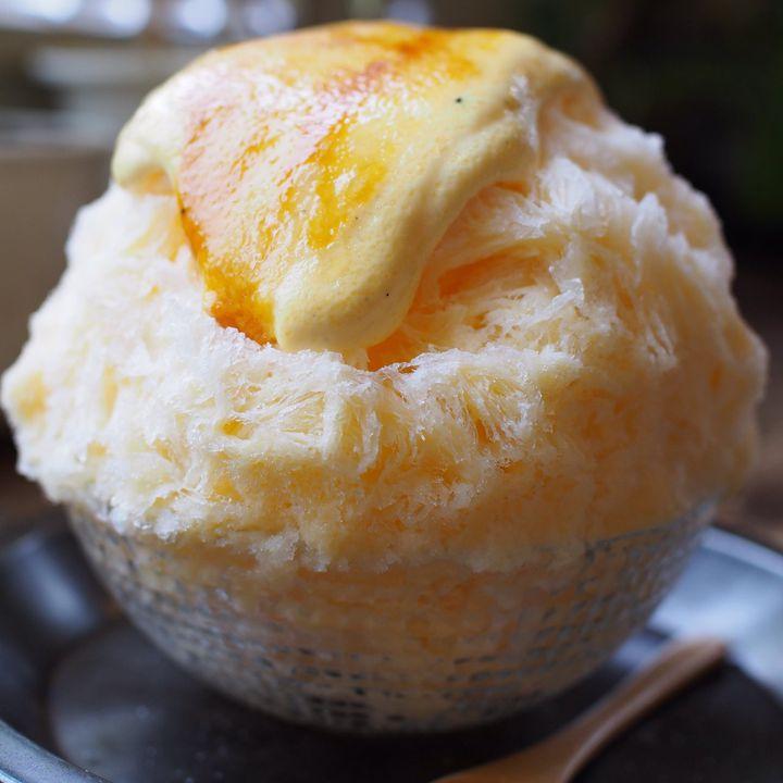 ブリュレが乗ったかき氷!大阪にある「cocoo cafe」がユニークと話題