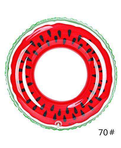 スイカ 浮き輪 子供用 プール 海 可愛い 果物 親子 スイムリング 70#
