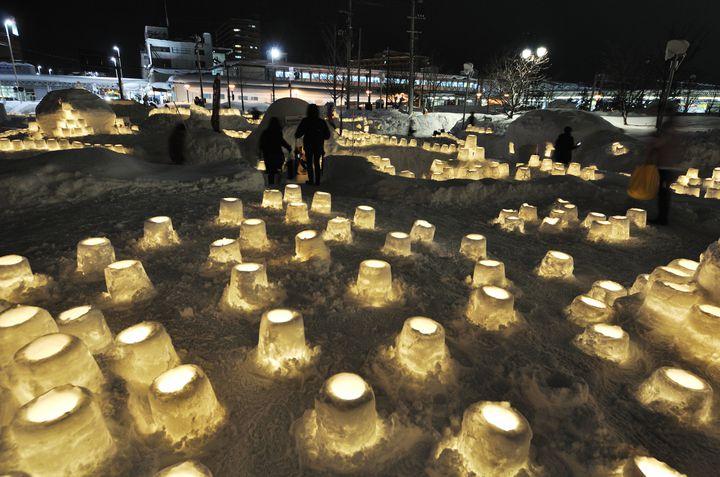 【終了】キャンドルの灯りに包まれる!「あおもり雪灯りまつり」2018年も開催