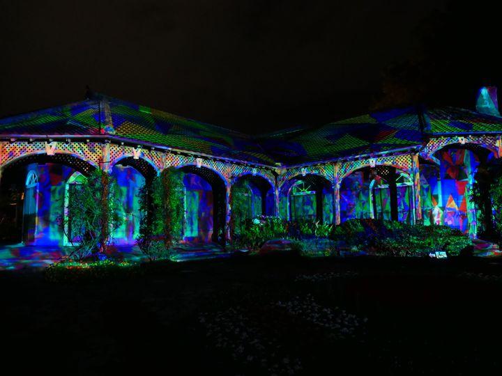 【開催中】「光の庭園 in グラバー園」3Dプロジェクションマッピングが開催