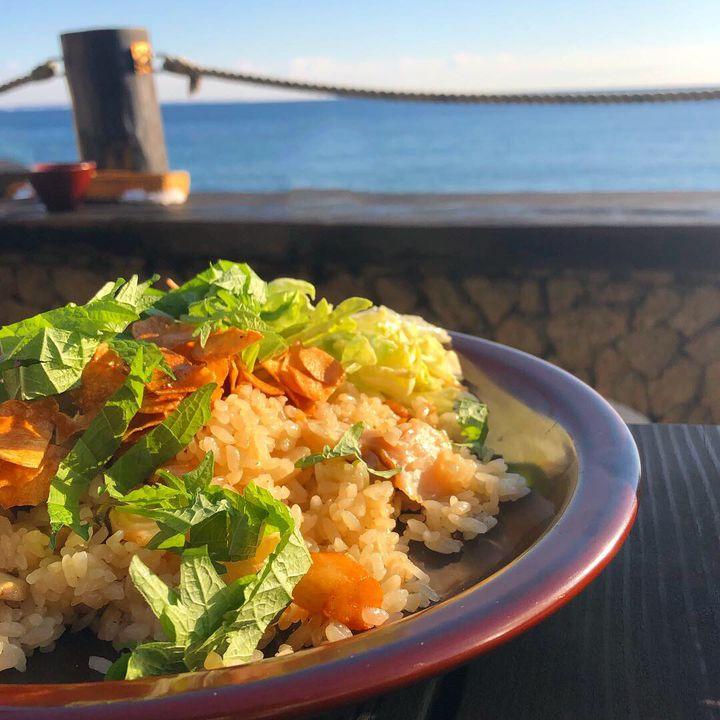 江ノ島 海 レストラン モアナマカイ珊瑚礁