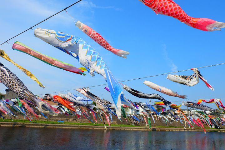 【開催中】600匹の鯉のぼりが空を舞う。新潟県にある加茂川にいってみよう